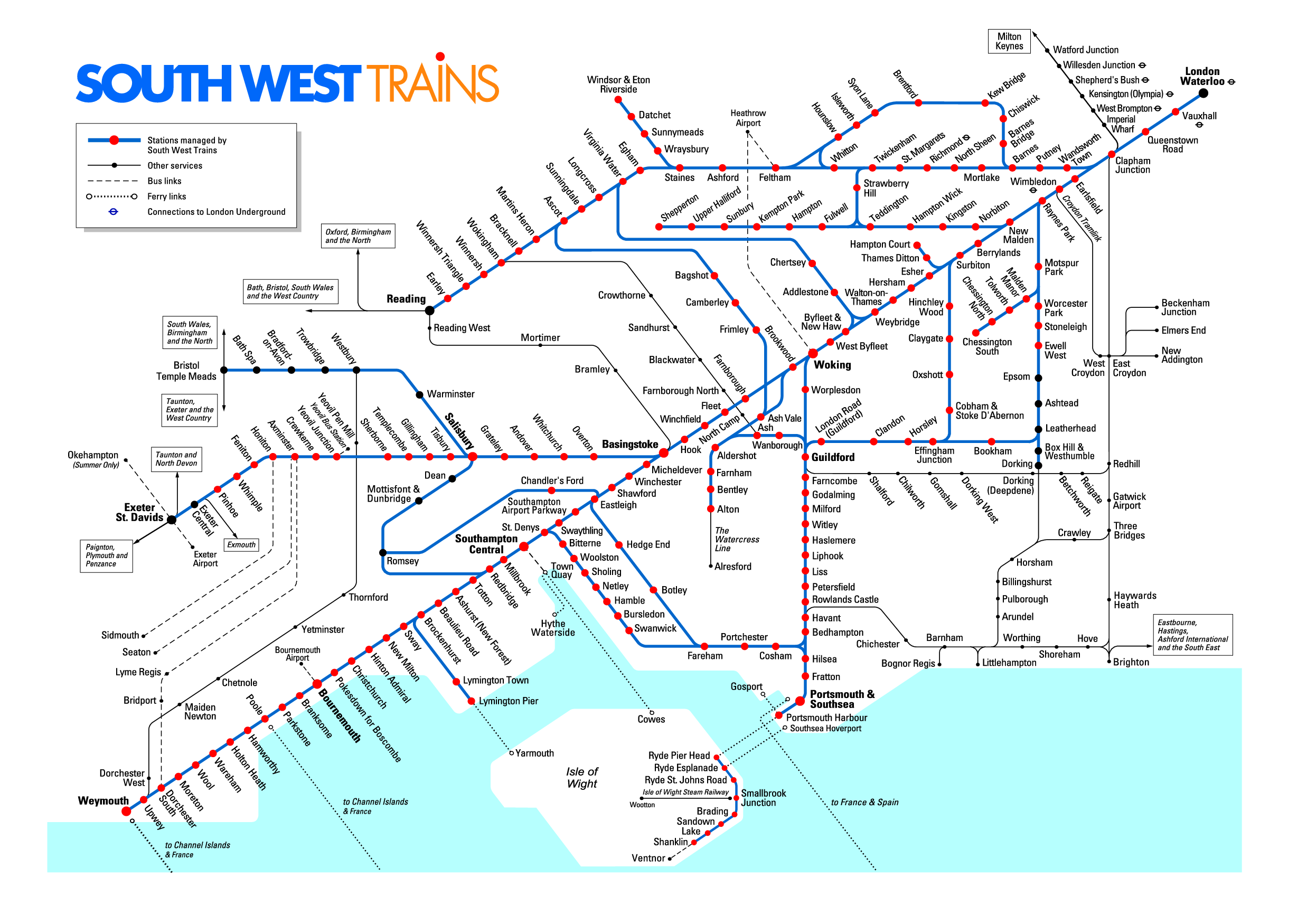 Sw Trains Map Southwest Trains Map | Bedroom 2018