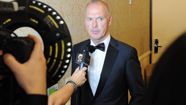 Michael Keaton wins Golden Globe for 'Birdman'. Image: http://www.goldenglobes.com
