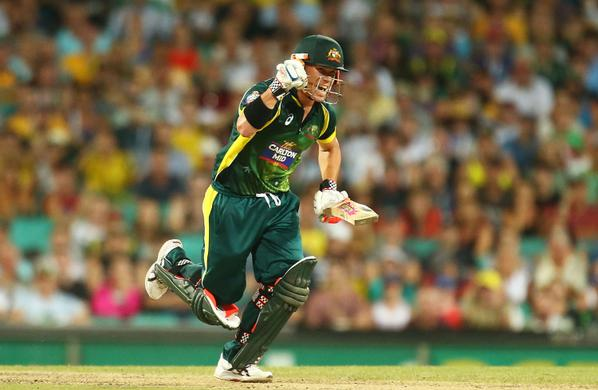 David Warner made 127 as Australia overcame England in the opening test of the ODI tri-series. Image: http://www.cricket.com.au/
