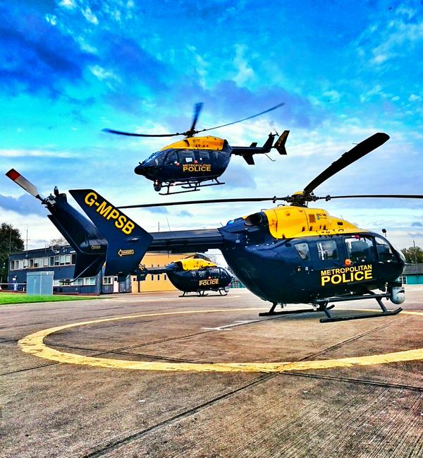 Helicopters operated by the Met Police