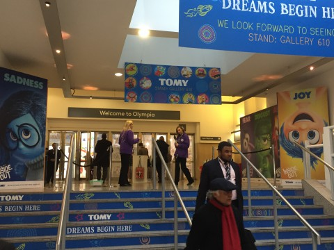 Entrance of the toy fair at London Olympia