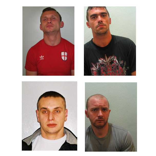 Four men from Poland jailed for aggravated burglary