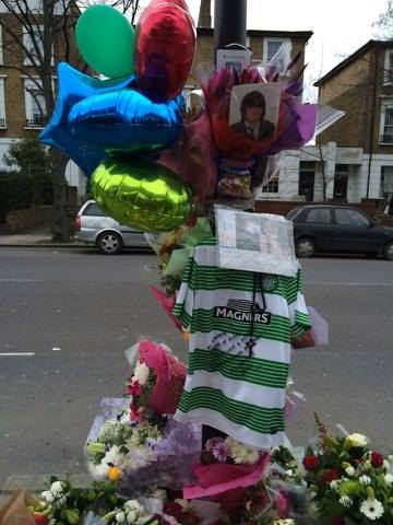 Street memorial to Alan Cartwright. Image: Jacqueline Shoen.