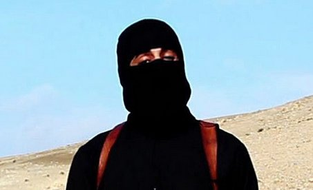 'Jihadi John' as he appeared in notorious ISIS execution videos.
