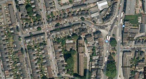 Nigel Road, Peckham Rye- scene of vehicle stop and shotgun seizure. Image: Google satellite.