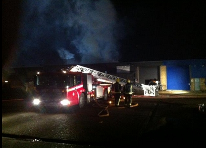 Firefighters tackling industrial estate fire in Rainham