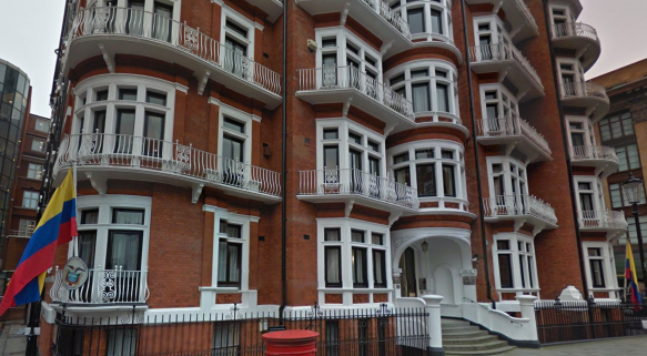 The Ecuadorian Embassy in Knightsbridge. Image: Google Street View