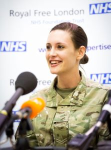 23 year old Corporal Anna Cross from Cambridge- successfully treated for Ebola. Image: Royal Free Hospital.