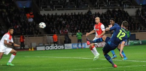 Arsenal beat Monaco two nil but it is not enough to stay in the Champions League. Image:@Arsenal FC