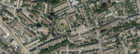Belmont Park, Lewisham- where cash would be couriered. Image: Google Satellite