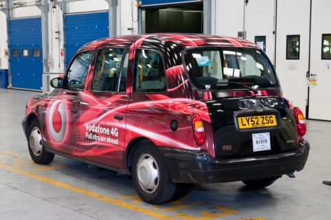 David Perry's taxi. Image: Met Police