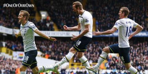 Harry Kane's first hat trick in thrilling 4-3 at home to Leicester City. Image: @Spurs Official FC