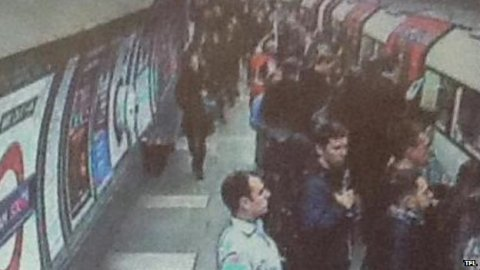 Platform at Clapham South shortly before woman fell between train and platform. Image: TFL