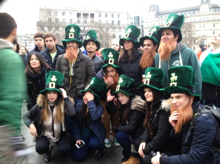 Hats and beards on St Patrick's Day