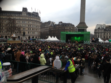 St Patrick's Day in central London