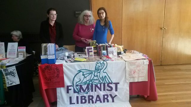 Feminist Library stall at WOW Marketplace