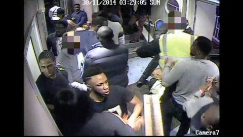 Suspects sought over fight on party boat. Image: Met Police