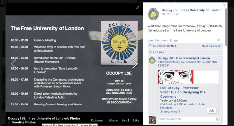 Occupy LSE style- a day of   workshops.