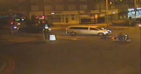 Police seek motorcyclist who did not stop after collision in Sutton. Image: Met Police