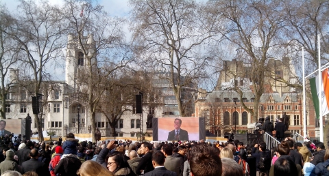 Prime Minister David Cameron talked about the meaning of the statue. Photo: Marta Malagon for londonmultimedianews