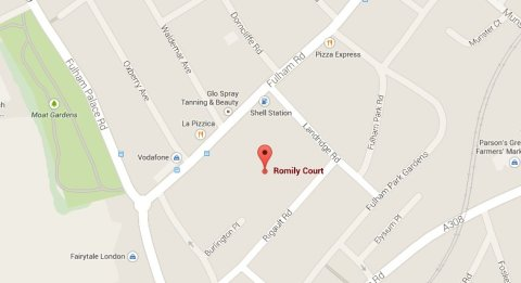 The body was found in a flat at Romily Court, Fulham. Image: Google Maps.