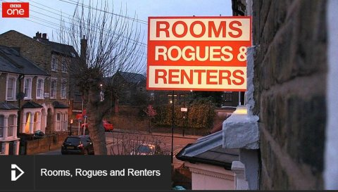 'Rooms Rogues and Renters' BBC television investigative programme. Image: BBC. Click to go through to BBC iPlayer