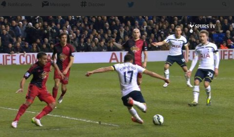Spurs score three dramatic goals to defeat Swansea City 3-2 at White Hart Lane Wednesday night. Image: SpursTV