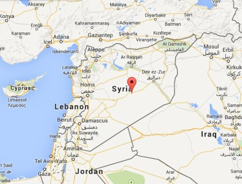 syria- the scene of a civil war and self-style 'caliphate Islamic state.' Image: Google Maps
