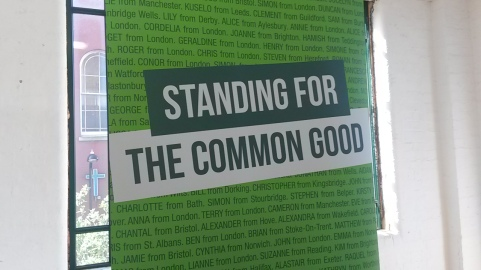 'Standing For The Common Good' The Green Party Manifesto launches at East London's Arcola Theater. Image: Emily Browne