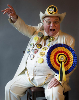 Alan 'Screaming Laud' Hope Monster Raving Looney Party leader. Image: Christopher L Proctor