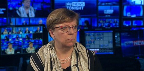Alison Saunders, Director of Public Prosecutions interviewed on Sky News. Image: Sky News. Click through to interview.