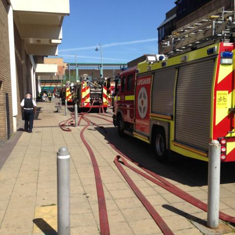 Bexleyheath shopping centre evacuation. Image: @LondonFire