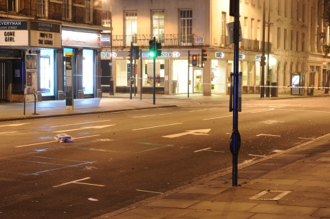 The crime scene. Photo: Met Police.