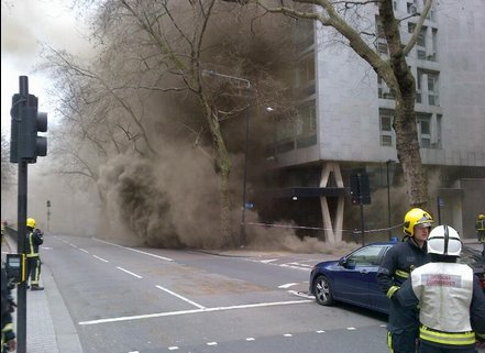 Cable fire in Kingsway. Image: @LFB