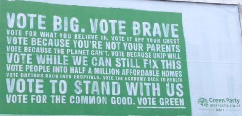 Green Party campaign poster. Image: @CllrHowardAllen