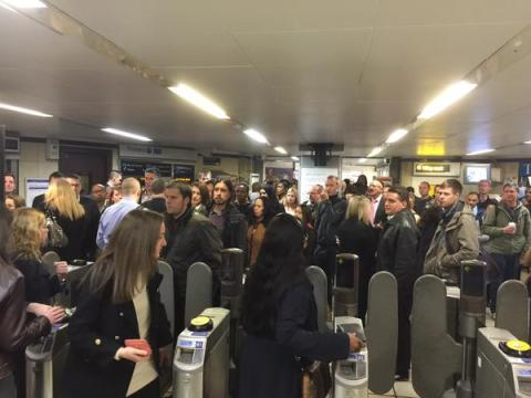 Misery for commuters using the Central Line this morning. Image: @DavidEmsley