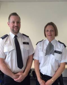 PC Andrew Stone and PC Jemma Lyons  responded to a call by a distressed female. image: www.facebook.com/MPSKingston