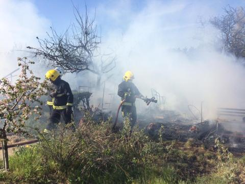 East Ham allotments blaze. Image: @LondonFire