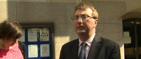 Former Daily Mirror Reporter Graham Brough acquitted at the Old Bailey. Image: BBC. Click to report.