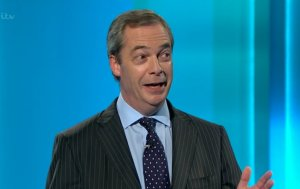 Nigel Farage created controversy by challenging treatment of overseas patients with HIV on the NHS. Image: ITV