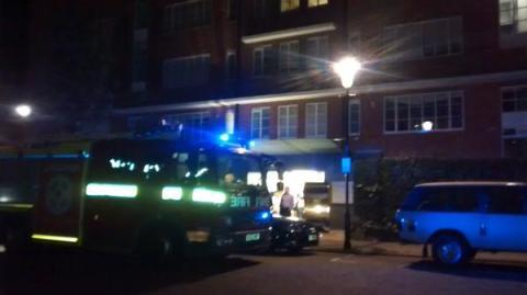 Scene of flat fire rescue. Image: @MPSKenChel