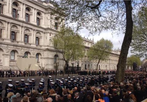 Remembering Gallipoli in Whitehall. Image@BritishArmy