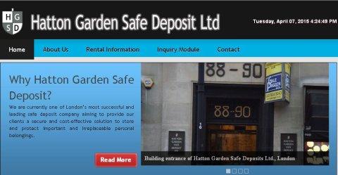Hatton Garden Safe Deposit Ltd, Hatton Garden. Image: http://www.hattongardensafe.co.uk/  Click to access site.