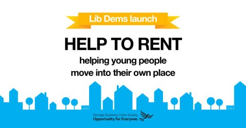 'Help To Rent' LibDems policy. Image: Liberal Democrats