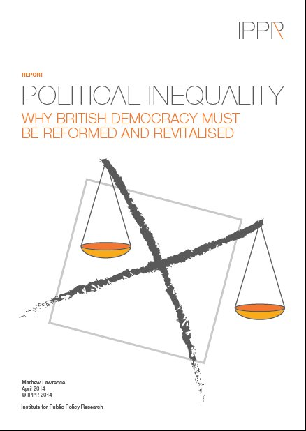 Cover of Political Inequality Report. Image: IPPR