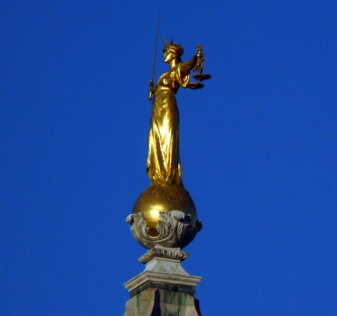 """""""Lady Justice"""" by Jongleur100 - Own work. Licensed under CC BY-SA 3.0 via Wikimedia Commons"""