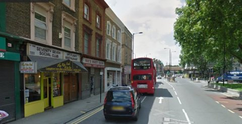 Detectives believe the attack happened in the street near the 77 Social Club in Dalston Lane, E8. Image: Google Street View