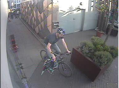 Police in Southwark would like to speak to this cyclist after collision with pedestrian near Tower Bridge. Image: Met Police.