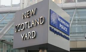 New Scotland Yard sign. Image: Met Police