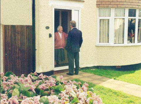Nigel Farage canvassing in South Thanet at the weekend. Image @Nigel_Farage